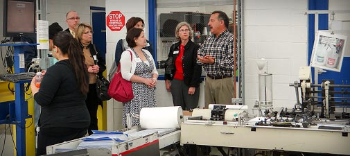 Technology Management Image: Statewide Tour Of Manufacturing Stops At IWCO Direct