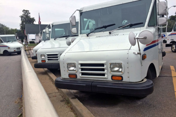 USPS delivery trucks