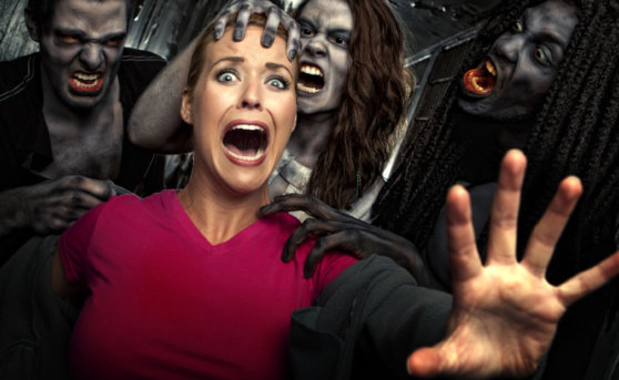 zombies attacking a woman